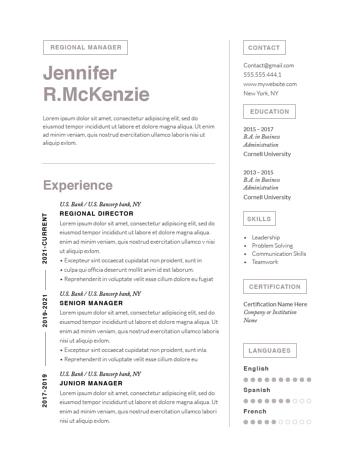 Modern Resume Template 120730