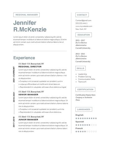 Modern Resume Template 120740