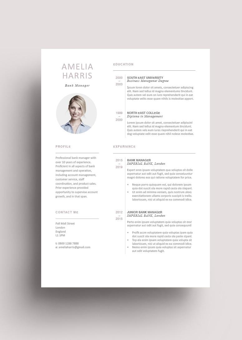 Modern Resume Tempplate 120440