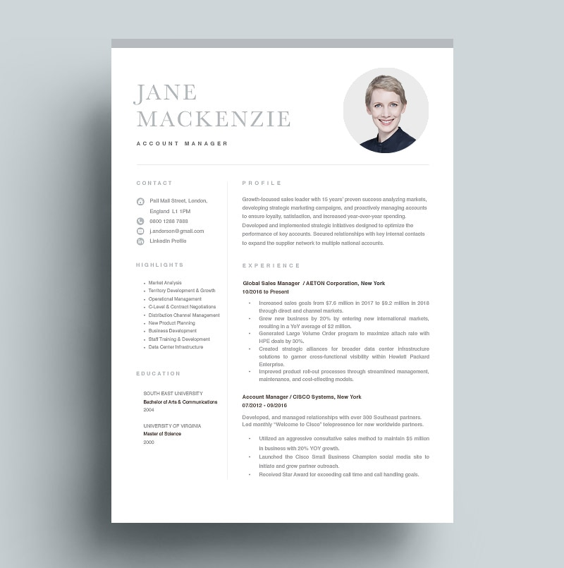Resume Account Manager
