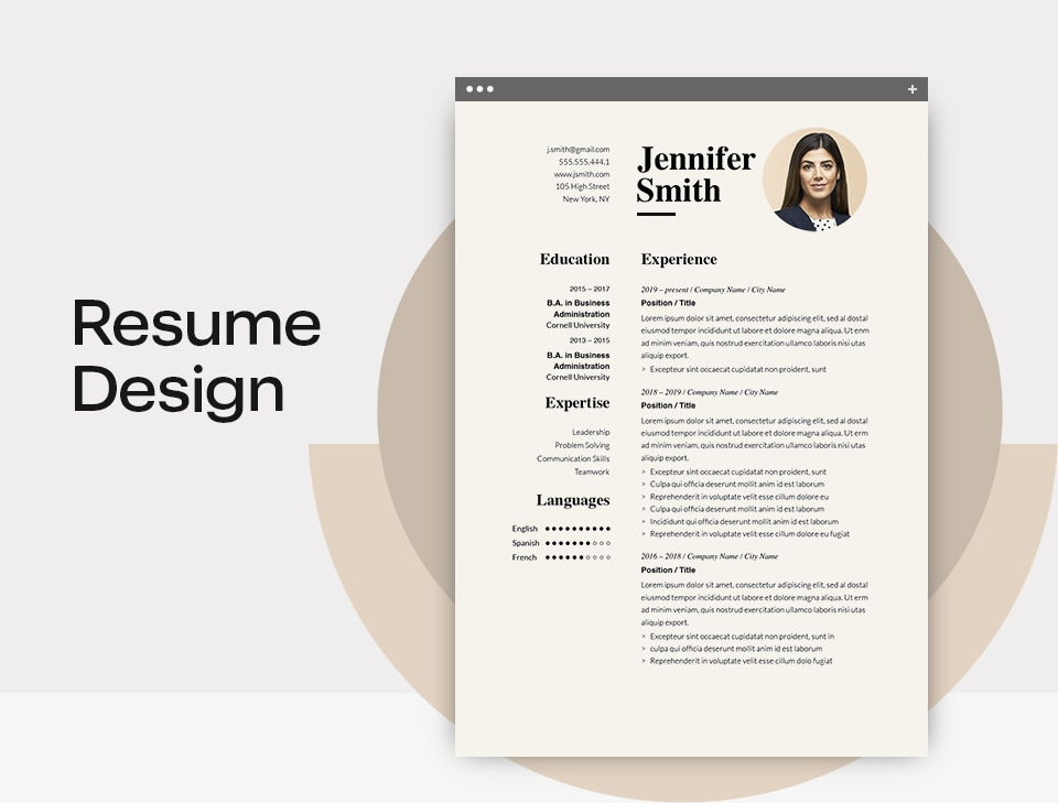 Resume Design Rules 2020