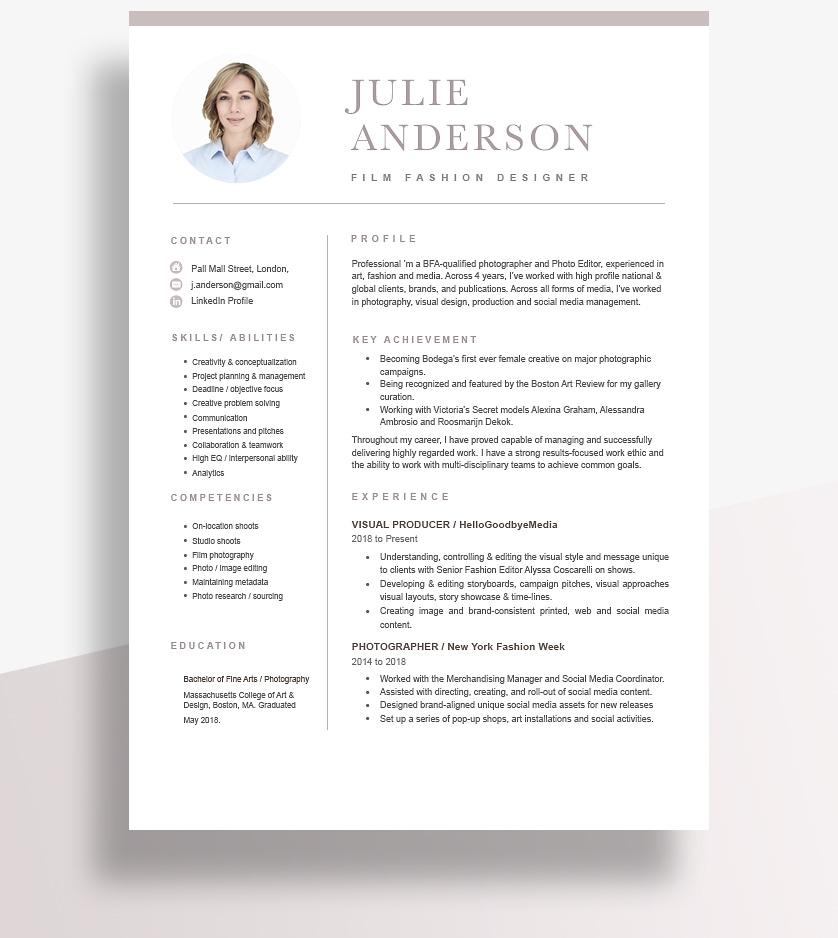 Resume Format Functional