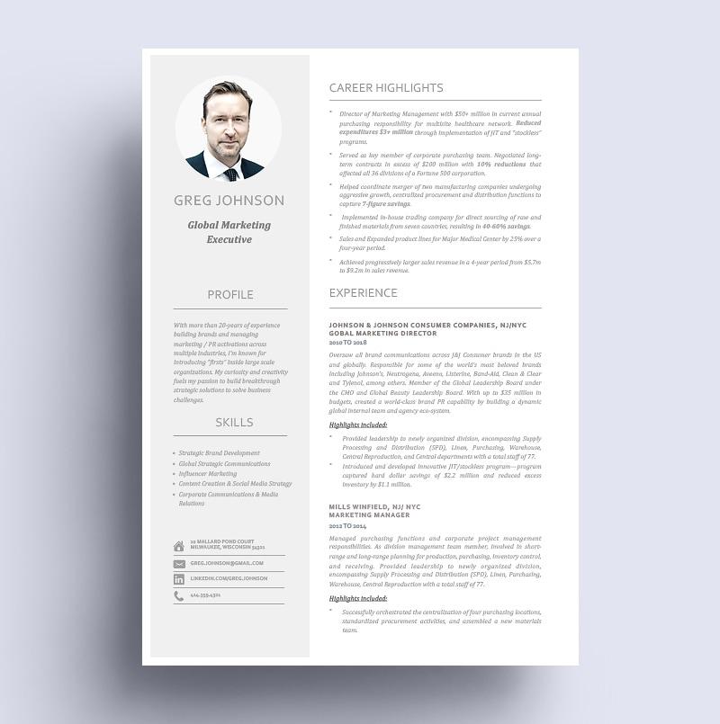 Resume Marketing Executive