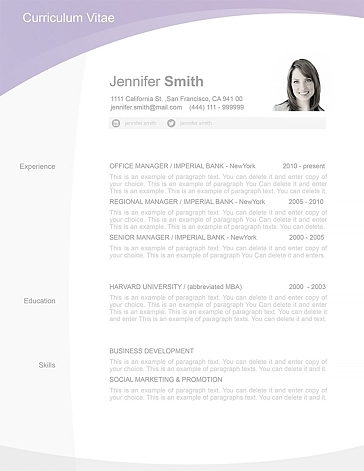 Resume Template 105030