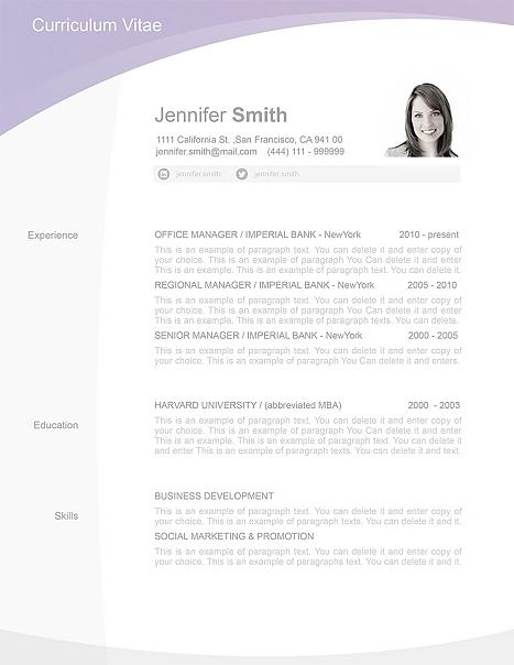 Resume Template 105030