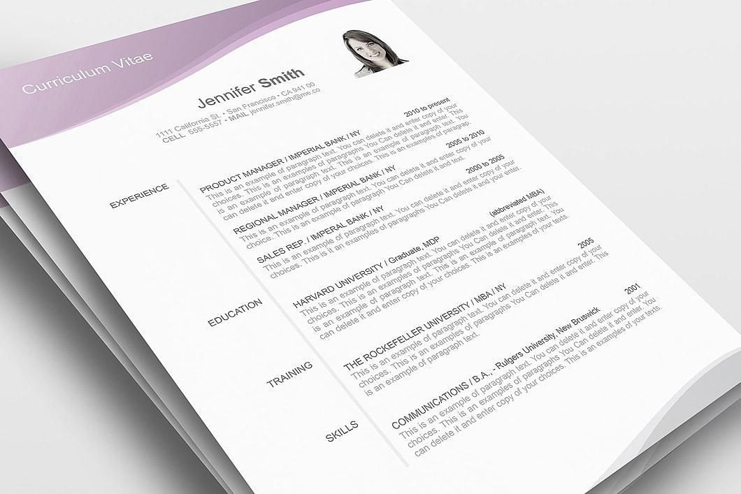 Resume Template 106030 1