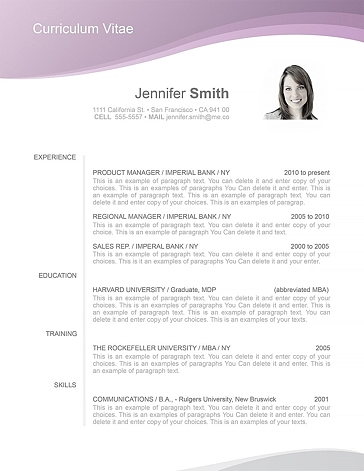 Resume Template 106030
