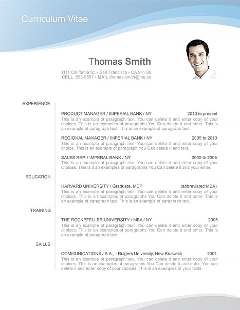 Resume Template 106040
