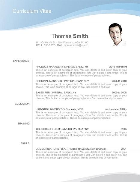 Resume Template 106040