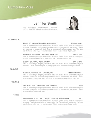 Resume Template 106050