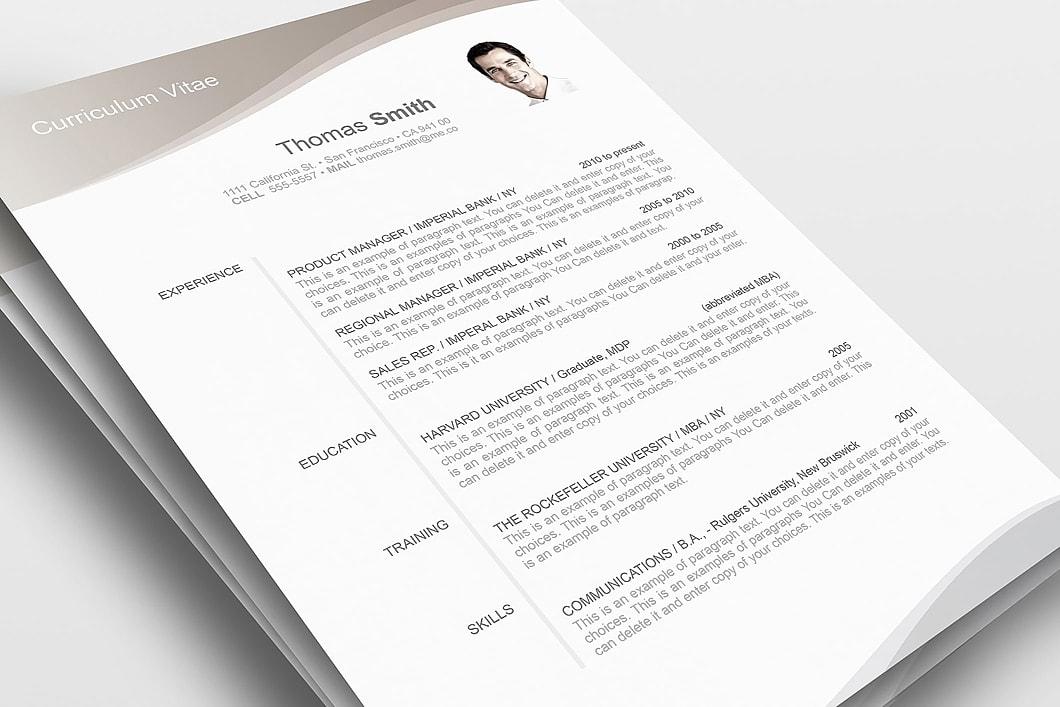 Resume Template 106060 1