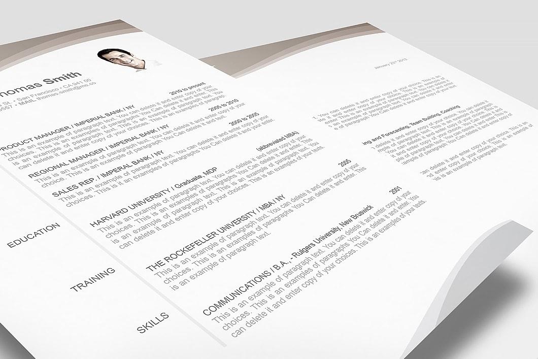 Resume Template 106060 3