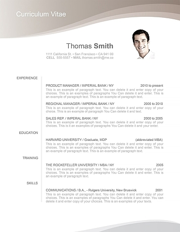 Resume Template 106060