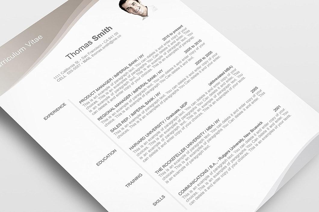 Resume Template 106060 5