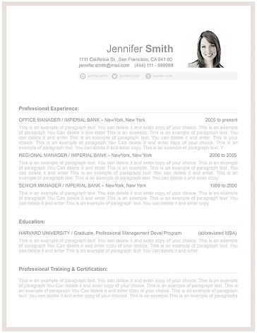 Resume Template 106070