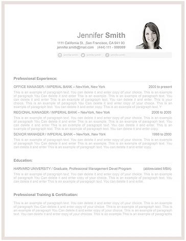 Resume Template 106070
