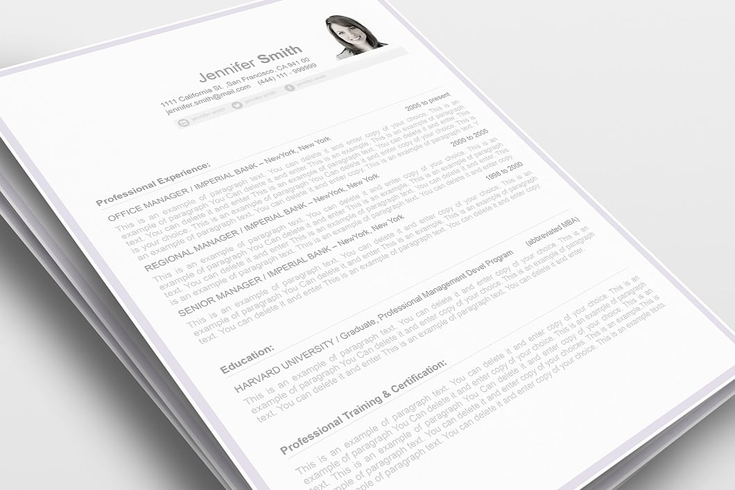 Resume Template 106080 0