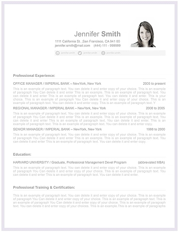 Resume Template 106080
