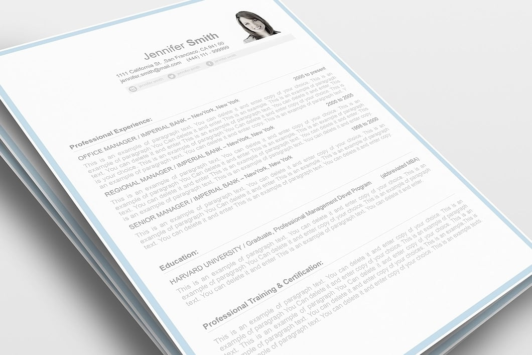 Resume Template 106090 0
