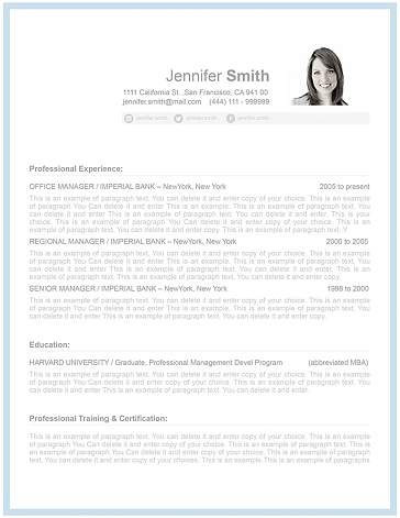 Resume Template 106090