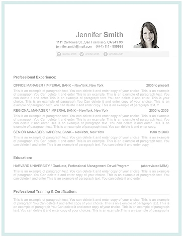 Resume Template 107000