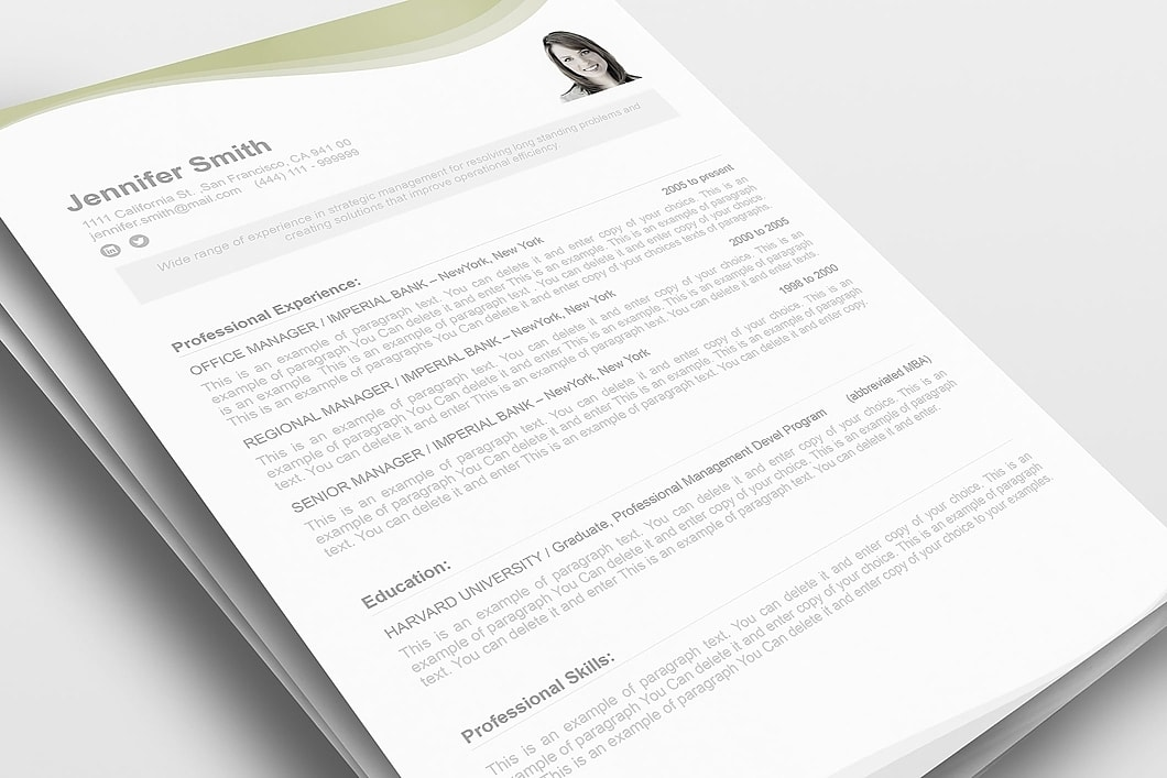 Resume Template 107050 1