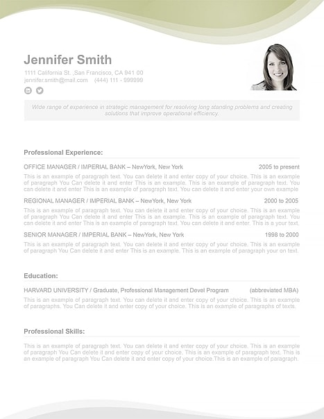 Resume Template 107050