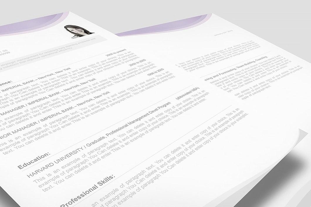 Resume Template 107070 3