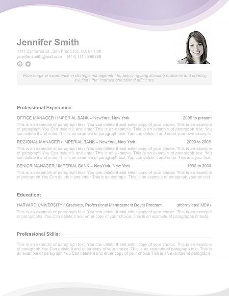 Resume Template 107070