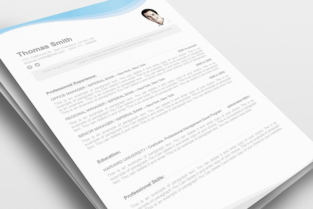 Resume Template 107080 1