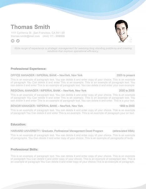 Resume Template 107080