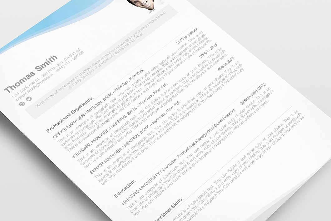 Resume Template 107080 5