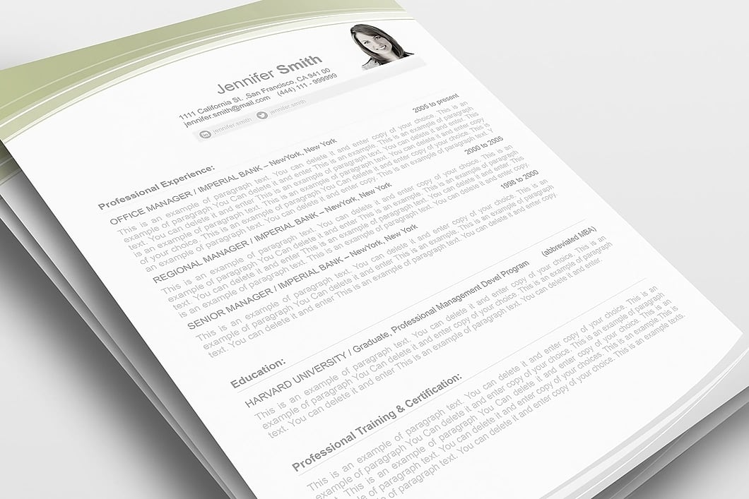 Resume Template 108030 1