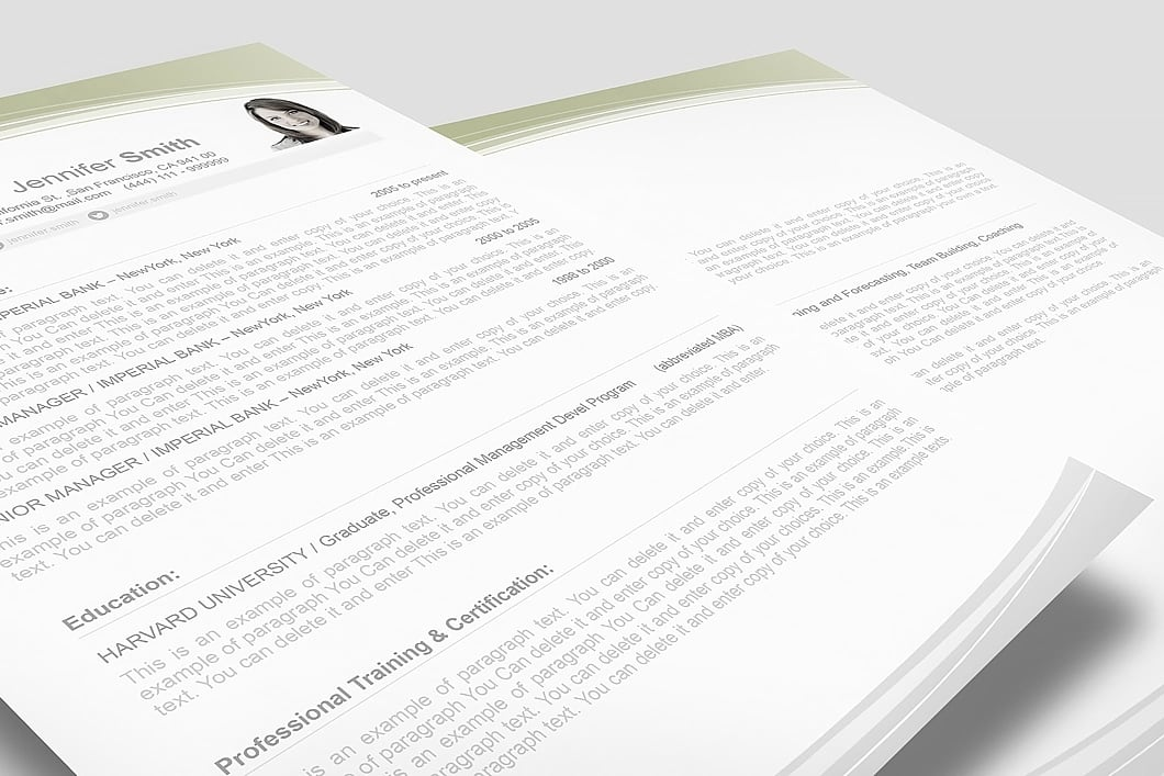 Resume Template 108030 3