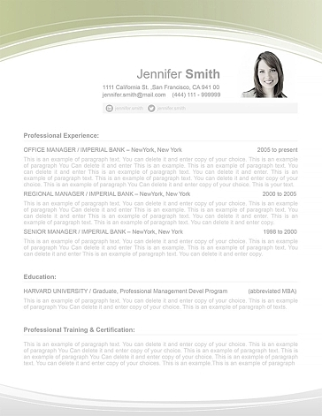 Resume Template 108030