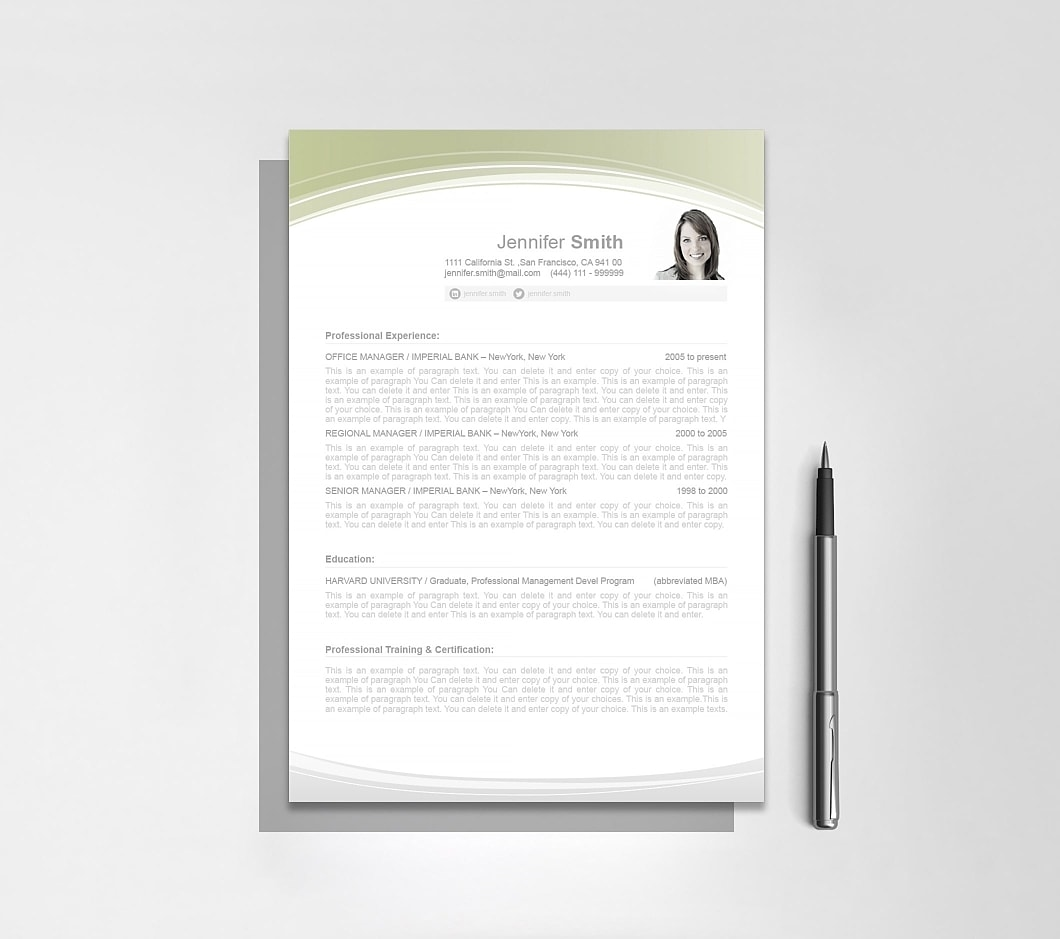 Resume Template 108030 7