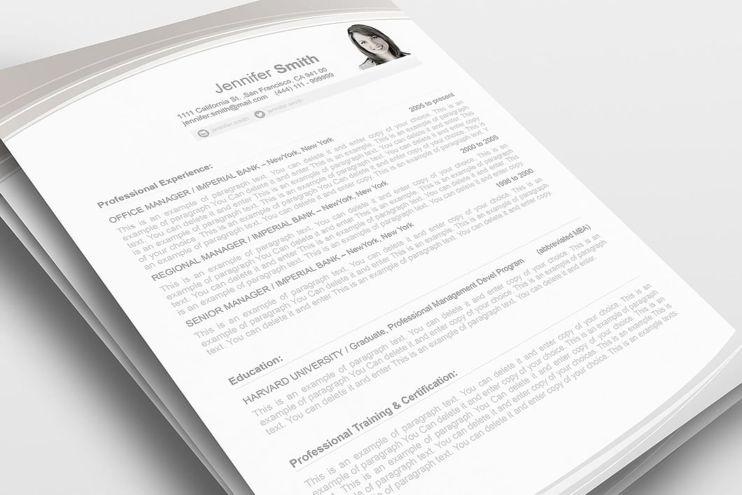 Resume Template 108040 1