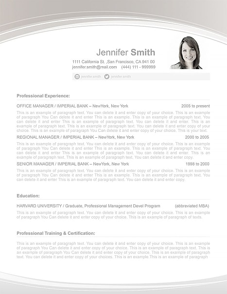 Resume Template 108040