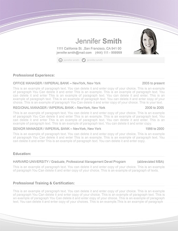 Resume Template 108050