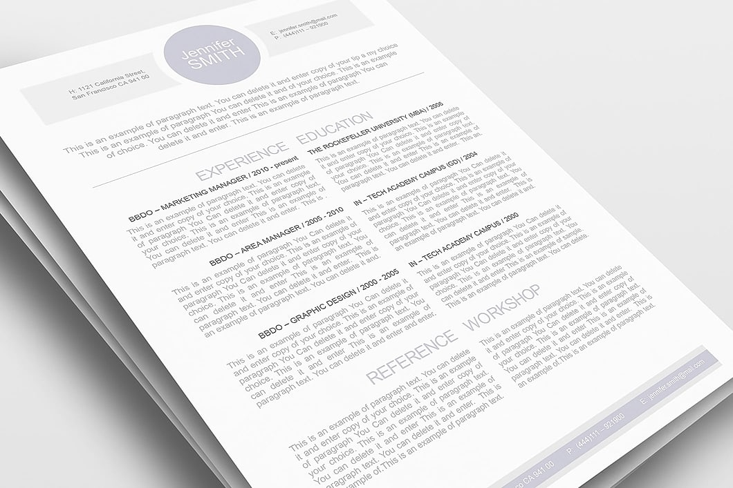Resume Template 109090 1