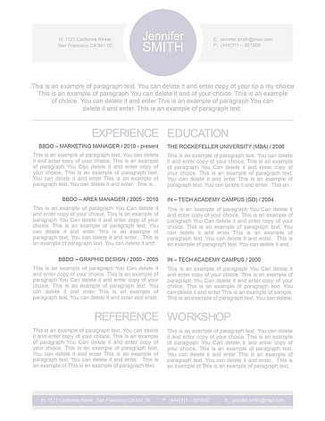 Resume Template 109090