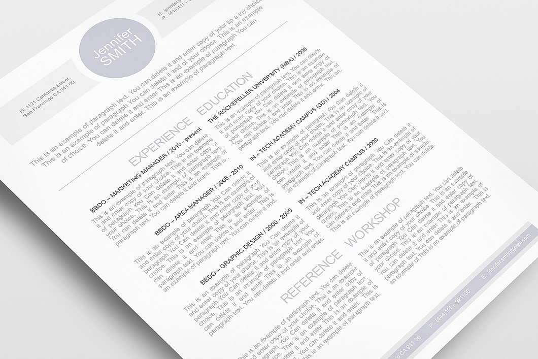 Resume Template 109090 5