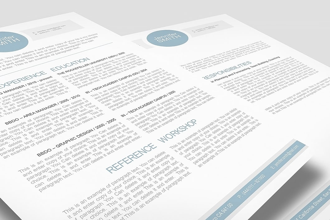 Resume Template 110000 3