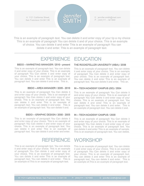 Resume Template 110000