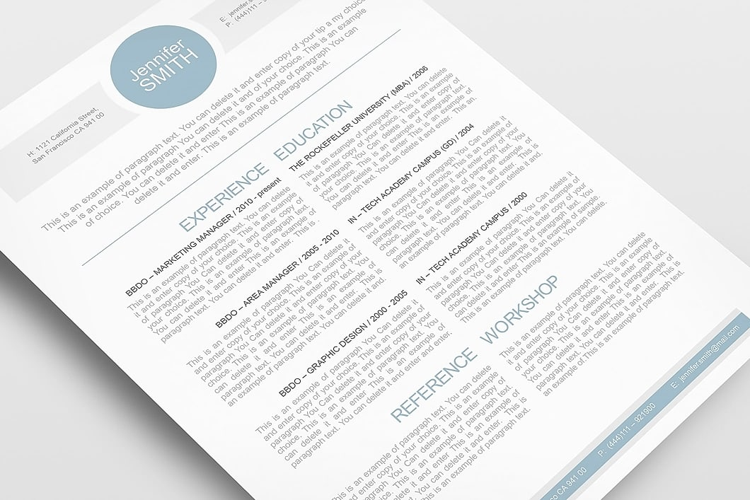 Resume Template 110000 5