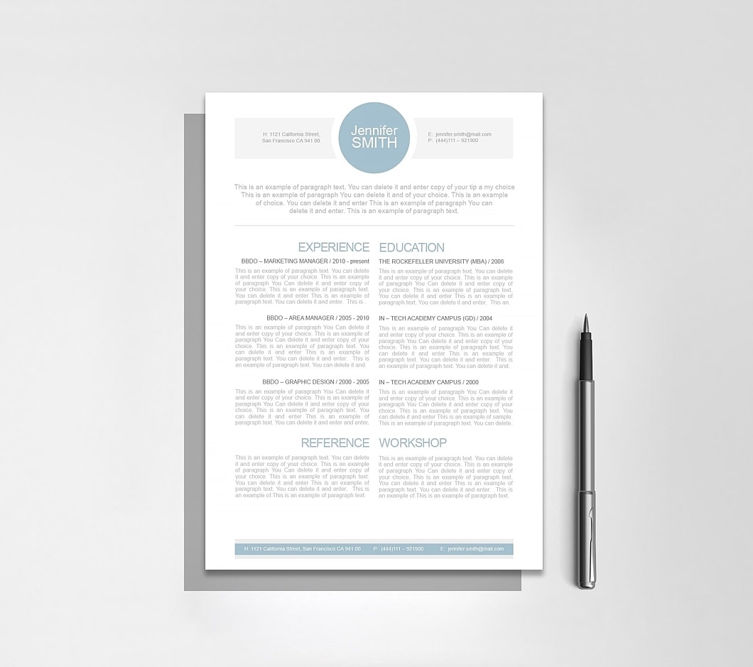 Resume Template 110000 7