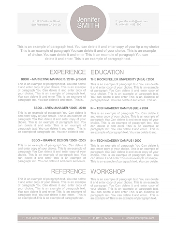 Resume Template 110010