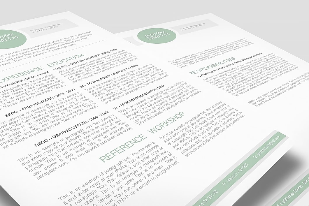 Resume Template 110020 3
