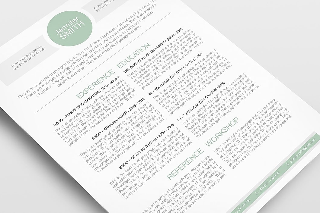 Resume Template 110020 5