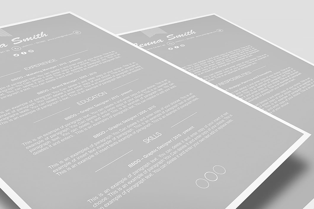 Resume Template 110190 3